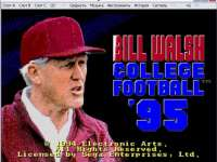 Bill Walsh College Football `95